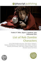 List of Rob Zombie Characters