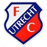 FC Utrecht Sticker - 9 cm - Wit / Rood / Blauw