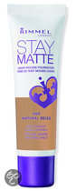 Rimmel London Stay Matte Liquid Foundation - 400 Natural Beige - Foundation