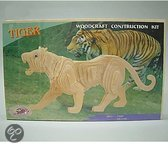 Houten bouwpakket tijger
