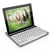 Bluetooth draadloos aluminium toetsenbord keyboard case hoes voor iPad 2 , 3 & 4 met witte toetsen