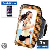 qMust Sony Xperia E1 Sport Armband met led-lampjes (orange)