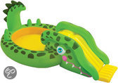 Intex Kinderzwembad met Glijbaan - Krokodil