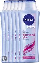 NIVEA Diamond Gloss - 6 x 250 ml Voordeelverpakking - Shampoo