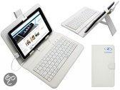Archos Arnova 7b G3 Keyboard Case, QWERTY Toetsenbord, Wit, merk i12Cover