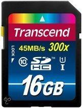 Transcend Premium UHS-1 SD kaart 16 GB