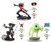 Disney Infinity Sidekicks Barbossa, Mike, Mevrouw Incredible 3DS + Wii + Wii U + PS3 + Xbox 360