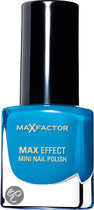 Max Factor Max Effect - 35 Candy Blue - Blauw - Mini Nail Polish