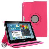 Samsung Galaxy Tab 2 10.1 P5100 / P7500 PU Lederen 360 graden rotatie hoes case hoesje roze