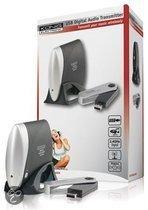 König VID-TRANS230KN - Draadloze Digitale Audio Zender met USB - Zwart/ Zilver
