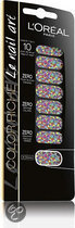 L'Oreal Paris Color Riche Nail Art - 029 Miss Pop Confetti - Roze - Nagelstickers
