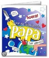 Wenskaart Papa Cartoon (blanco binnenkant incl enveloppe)