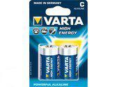 Varta C Batterijen High Energy - Pak à 2 stuks