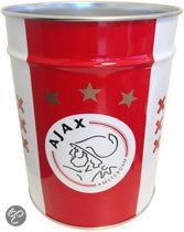 Ajax Prullenbak - Rood / Wit