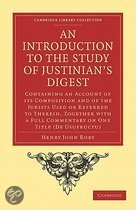 An Introduction to the Study of Justinian's Digest