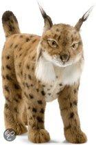 Pluche knuffel lynx bruin 35 cm