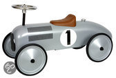 Metalen Loopauto Racer - Zilver