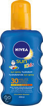 NIVEA Kids Sun Gekleurd - SPF 30 - 200 ml - Zonnebrandspray