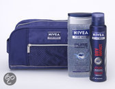 NIVEA for Men Impact Toilettas - 3 delig - Geschenkset