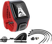 TomTom Multi-Sport Cardio CSS+AM zwart/rood - GPS Sporthorloge