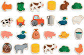 Magneten boerderij - 24 stuks