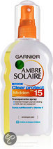 Garnier Ambre Solaire Clear Transparant - SPF15 - ZonneSpray