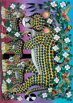 Tinga Tanga African Art Wildcat Family - Puzzel - 1000 stukjes