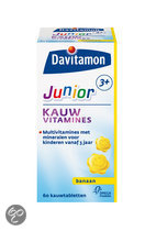 Davitamon Junior 3+ Kauwvitamines - Framboos - 60 Kauwtabletten - Multivitamine