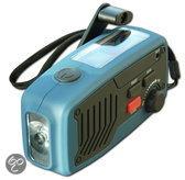 POWERplus Panther, dynamo en solar oplaadbare AM / FM radio met LED zaklamp en lader / oplader voor mobiele telefoon