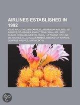 Airlines Established in 1992