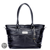Little Company - Black Label Croco Tote Bag Luiertas - Zwart