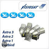 Visiosat G3D Astra/Hotbird - Satellietontvanger Astra 1, 2 en 3