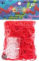 Rainbow Loom Elastiekjes - Rubber Bands Rood - 600 Stuks