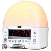 Balance HE-DW11 - Wekker Radio met Lamp - Wit