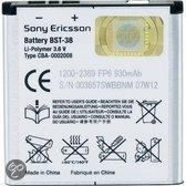 Sony Ericsson Accu BST-38 (o.a. voor C510,C902,C905,Jalou,K770i,K850i,S500i,W580i,W980i,Xperia X10 mini pro)