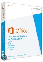 Microsoft Office Home and Business 2013 - 32-bit/x64 / Nederlands / 1 Licentie / Eurozone Medialess