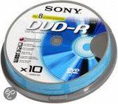 Sony DVD-R 120min/4,7GB 16x 10 stuks op spindel