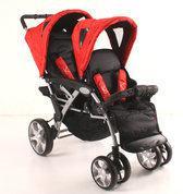 KEES - Tandem Luxe Kinderwagen - Rood
