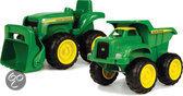 John Deere grote Kiepwagen en Tractor