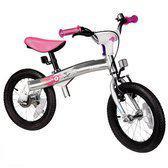 Imaginarium New Bike in Progess - Aluminium fiets en loopfiets in één van 14 inch - Roze