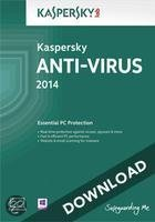Kaspersky Anti-Virus 2014 1-pc 2 jaar directe download versie