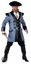 Luxe piraten kostuum blauw 60-62 (xl)