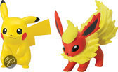 Pokémon XY - 2 Kleine Figuren Sack Pikachu en Flareon