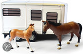 Horse Trailer With Horse And Foal