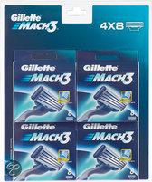 Gillette Mach 3 Blister Voordeelverpakking - 4 x 8 stuks - Scheermesjes