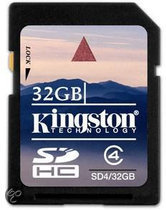 Kingston SDHC Card 32 GB klasse 4