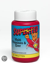 SuperTed Multivitamines En IJzer - 50 Kauwtabletten - Multivitamine