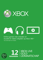 Microsoft Xbox Live Gold Abonnement 12 Maanden Xbox 360