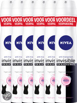 NIVEA Invisible For Black & White Clear Spray 200ml voordeelpakket 5+1 gratis