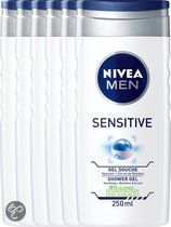 NIVEA MEN Sensitive - 250 ml - Douchegel - 6 st - Voordeelverpakking